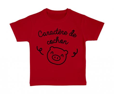 T-shirt enfant Caractère de cochon