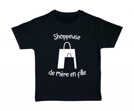 T-shirt enfant Shoppeuse de mère en fille