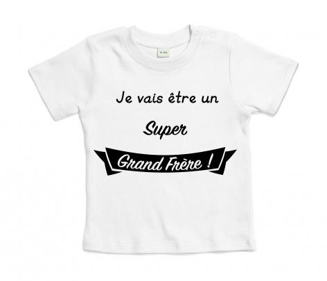 T-shirt bébé Je vais être un Super Grand Frère !