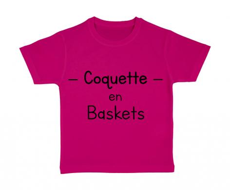 T-shirt enfant Coquette en baskets
