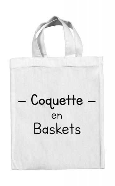 Mini tote bag Coquette en baskets
