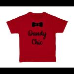 T-shirt enfant rouge Dandy chic