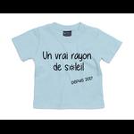 tshirt-bébé-bleu-ciel-rayon-de-soleil