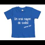 tshirt-bébé-bleu-cobalt-rayon-de-soleil