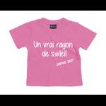 tshirt-bébé-rose-bubble-rayon-de-soleil
