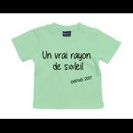 tshirt-bébé-vert-rayon-de-soleil