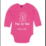 body-nounours-noel-rose