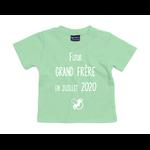 tshirt-bébé-grand-frere-vert