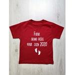 T-shirt rouge futur grand frère