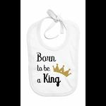 bavoir_born_to_be_a_king_blanc