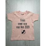 T-shirt bébé future grande sœur pour - personnalisé