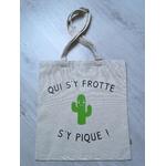 Tote bag personnalisé en coton - Qui sy frotte sy pique