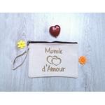 Pochette en coton personnalisé Mamie d'Amour