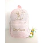 Mini sac à dos fée clochette rose