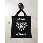 Tote bag Mamie d'amour cœur de fleurs