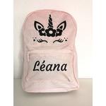 Mini sac à dos licorne rose