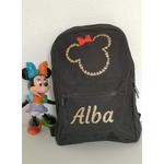 Mini sac à dos tête de Minnie noir