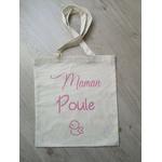 Tote bag coton personnalisé Maman Poule