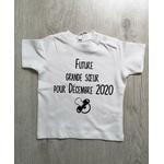 T-shirt bébé personnalisé future grande soeur pour