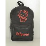 Mini sac à dos Hello Kitty noir