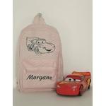 Mini sac à dos Cars rose personnalisé