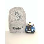 Mini sac à dos personnalisé gris Pat Patrouille