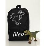 Mini sac à dos personnalisé dinosaure avec prénom