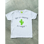 T-shirt enfant qui s'y frotte s'y pique