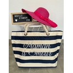 sac shopping maman d'amour bleu personnalisé