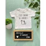 T-shirt bébé personnalisé c'est l'heure de l'apéro