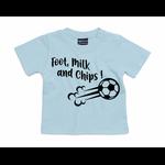 T-shirt foot, milk and chips bleu ciel