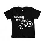 T-shirt foot, milk and chips noir