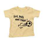 T-shirt foot, milk and chips jaune