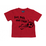 T-shirt foot, milk and chips rouge
