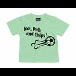 T-shirt foot, milk and chips vert menthe