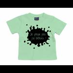 t-shirt vert menthe je peux pas jai bêtises