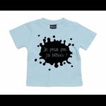 t-shirt bleu ciel je peux pas jai bêtises