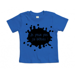 t-shirt bleu cobalt je peux pas jai bêtises