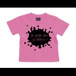 t-shirt rose bubble je peux pas jai bêtises