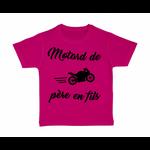 tshirt-enfant-rose-motard-de-pere-en-fils