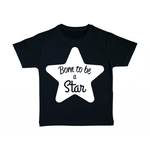 tshirt-enfant-noir-born-to-be-a-star