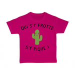 tshirt-enfant-rose-qui-sy-frotte-sy-pique