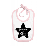bavoir-rose-born-to-be-a-star