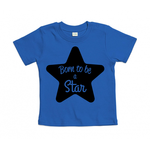 tshirt-bleu-cobalt-born-to-be-a-star