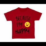 tshirt-enfant-rouge-because-Im-Happy