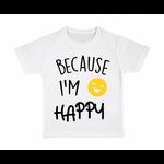 tshirt-enfant-blanc-because-Im-Happy
