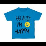 tshirt-enfant-bleu-because-Im-Happy