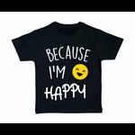 tshirt-enfant-noir-because-I'm-Happy