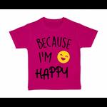 tshirt-enfant-rose-because-Im-Happy