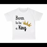 tshirt-enfant-blanc-born-to-be-a-king